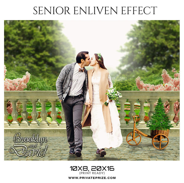 BROOKLYN AND DAVID - SENIOR ENLIVEN EFFECT - Photography Photoshop Template