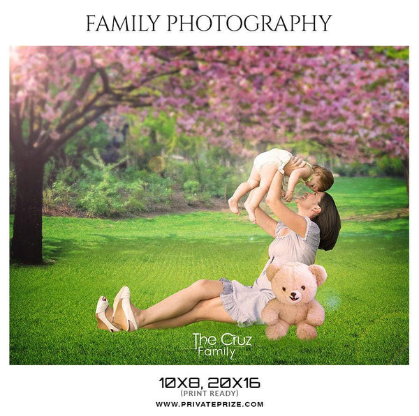 The Cruz Family - Family Photography - Photography Photoshop Template