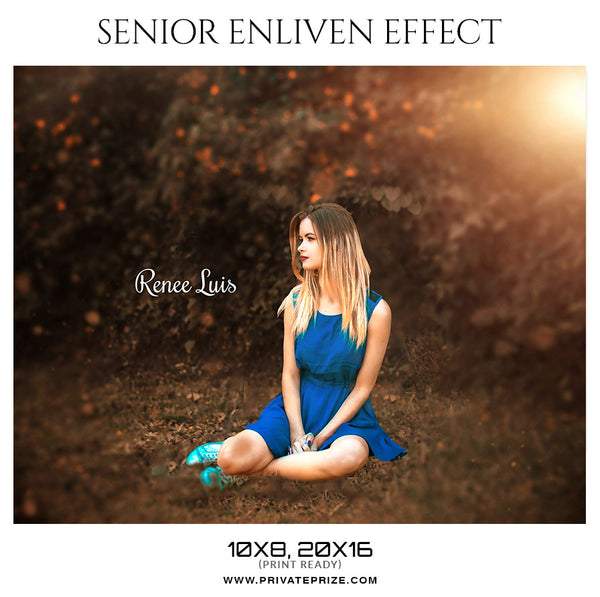 Renee Luis - Senior Enliven Effect Photography Template - Photography Photoshop Template
