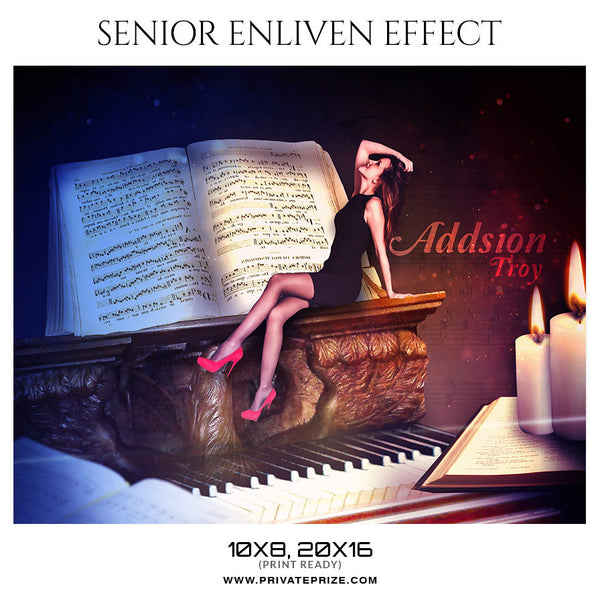 ADDSION TROY - SENIOR ENLIVEN PHOTOGRAPHY EFFECT - Photography Photoshop Template