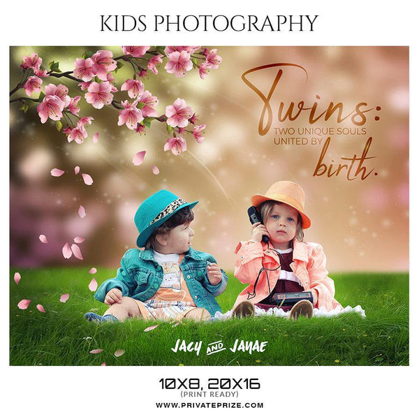 Jacy & Janae - Kids Photography Photoshop Templates