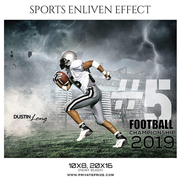 Dustin Long - Football Sports Enliven Effect Photography Template