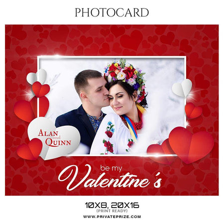 Alan and Quinn - Photocard Templates - Photography Photoshop Template