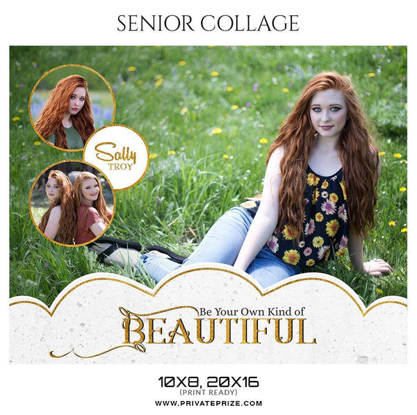 Sally Troy - Senior Collage Photography Template - Photography Photoshop Template