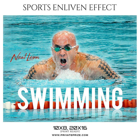 Neal Leon - Swimming Sports Enliven Effect Photography Template - Photography Photoshop Template