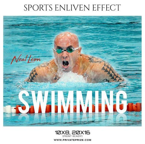 Neal Leon - Swimming Sports Enliven Effect Photography Template