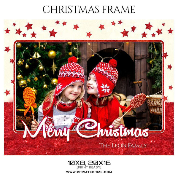 The Leon Family - Christmas Frame - Photography Photoshop Template