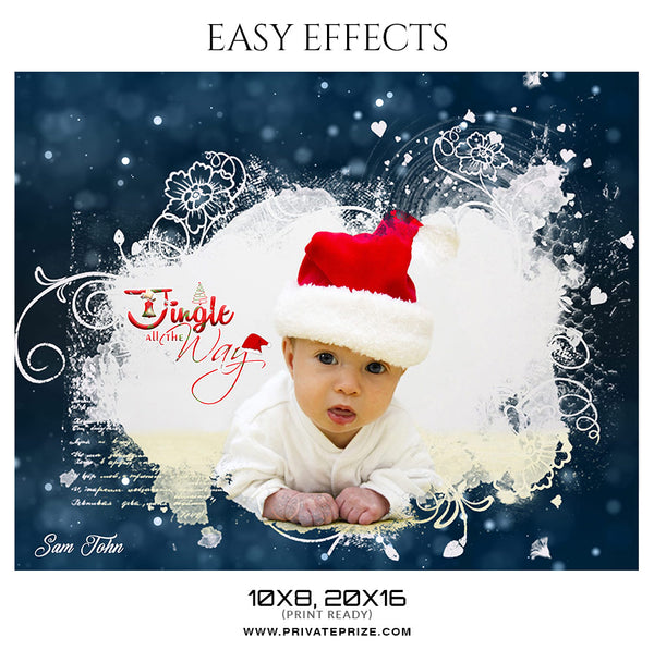Sam John - Christmas Easy Effects - Photography Photoshop Template
