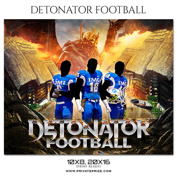 DETONATOR FOOTBALL Themed Sports Photography Template