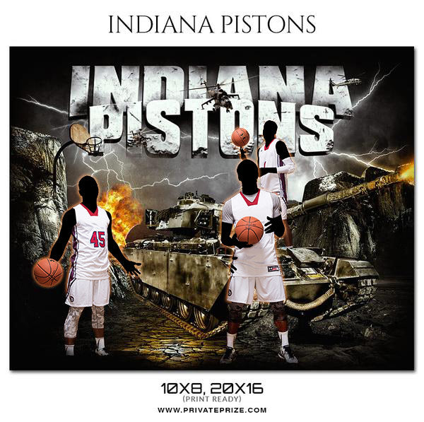INDIANA PISTONS Basketball Themed Sports Photography Template
