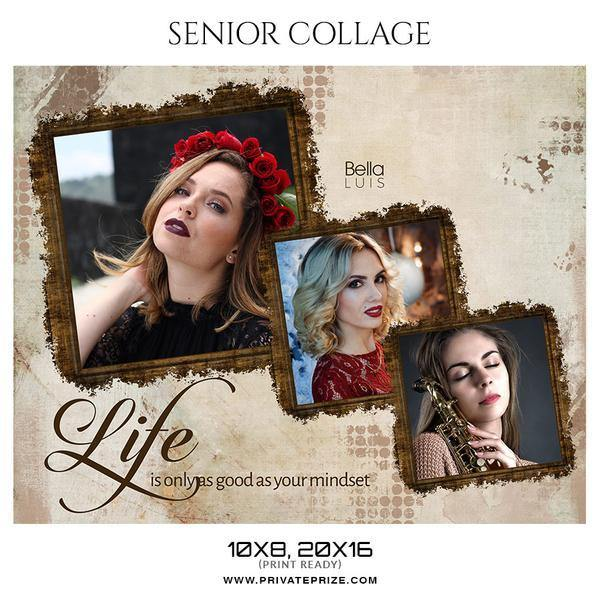 December - Seniors Bundle Photography Photoshop Template - Photography Photoshop Template