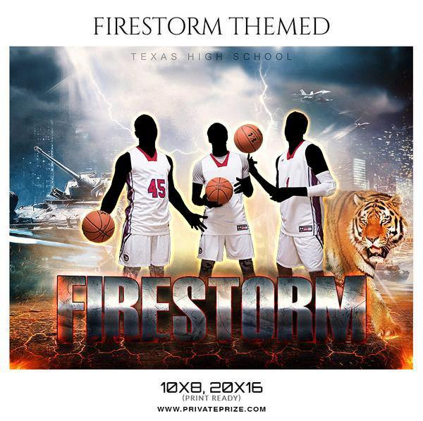 Firestorm - Basketball Theme Sports Photography Template