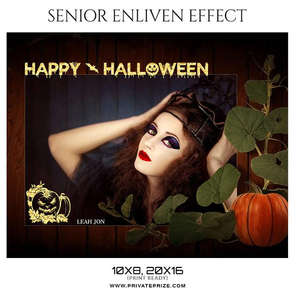 October Seniors Bundle Photography Photoshop Template - Photography Photoshop Template