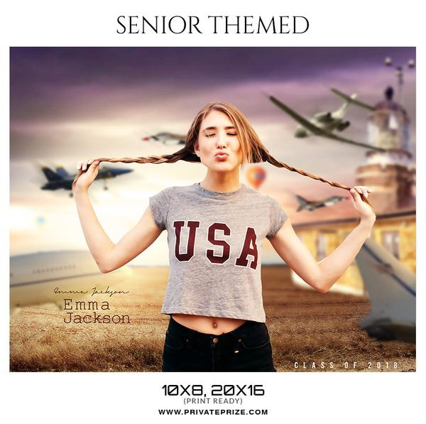 September Seniors Bundle Photography Photoshop Template