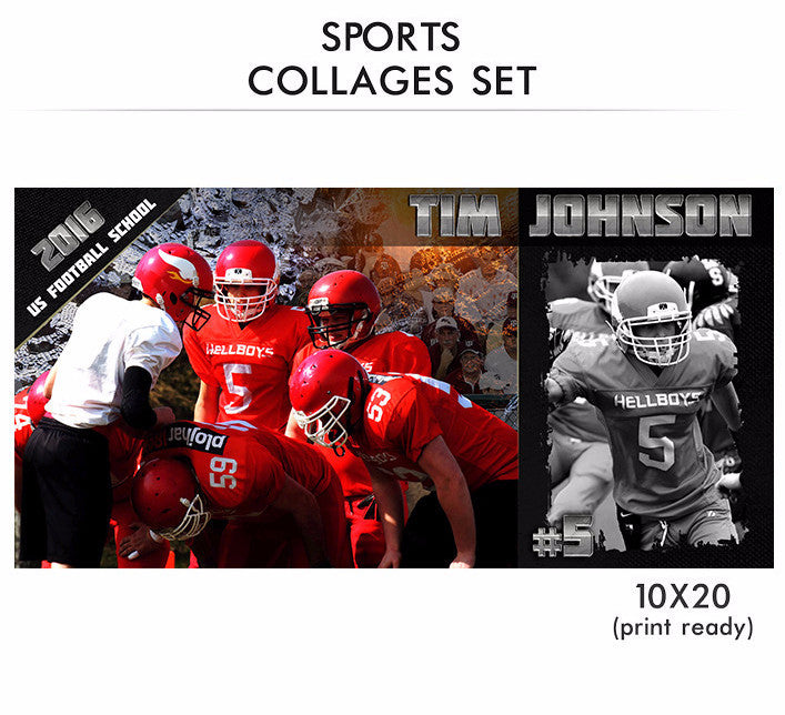 tim sports collage photoshop template