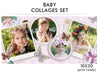 Baby Collage Set - Baby Love - Photography Photoshop Templates