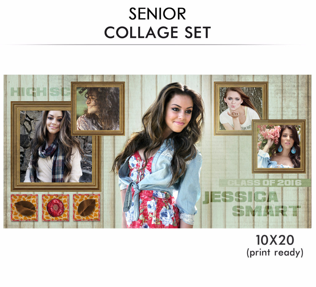 Jessica- Senior Collage Photoshop Template