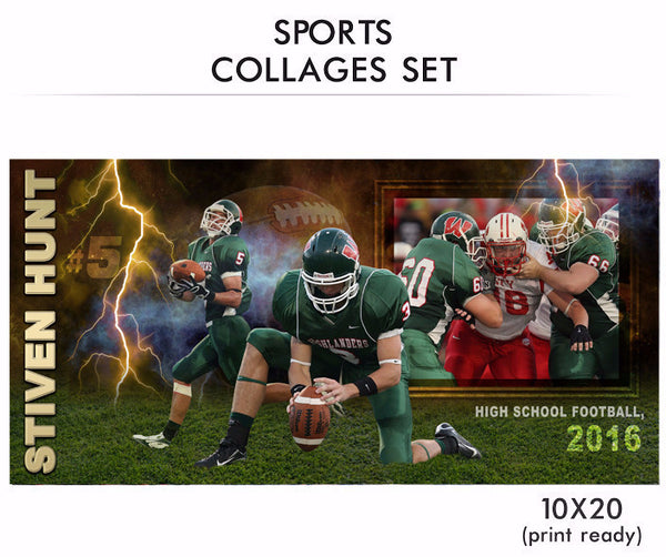 Hunt - Sports Collage Photoshop Template - Photography Photoshop Templates