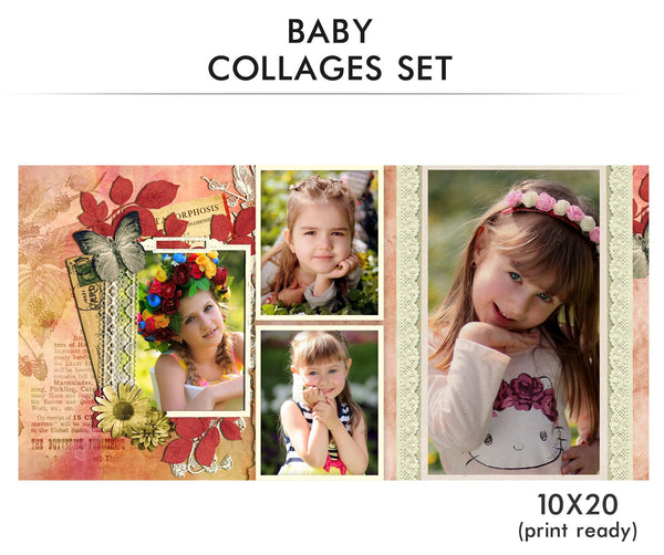 Baby Collage Set - Little Angel - Photography Photoshop Templates