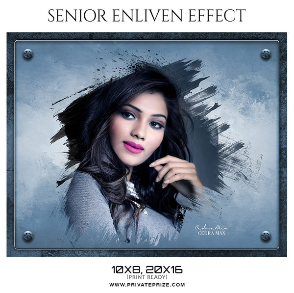 Cedra Max  - Senior Enliven Effect Photography Template - Photography Photoshop Template