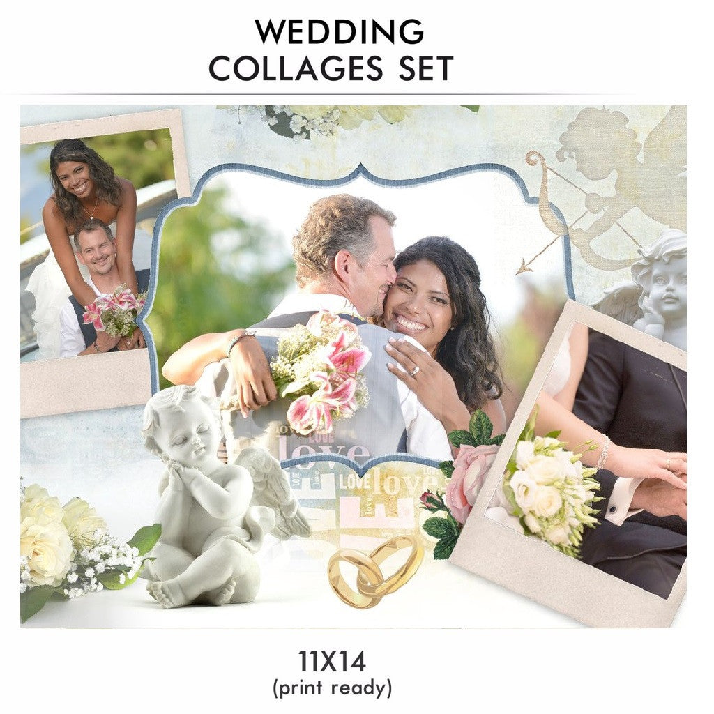 Wedding collage set love story wedding collage set love story photography photoshop templates maxwellsz