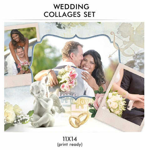 Wedding Collage Set - Love Story