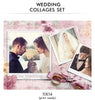 Wedding Collage Set - Kiss Now - Photography Photoshop Templates