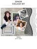 Smile King-Senior Collage Photoshop Template - Photography Photoshop Template