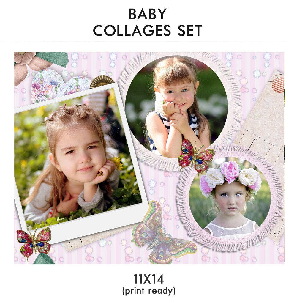 baby collage set baby love photography photoshop templates