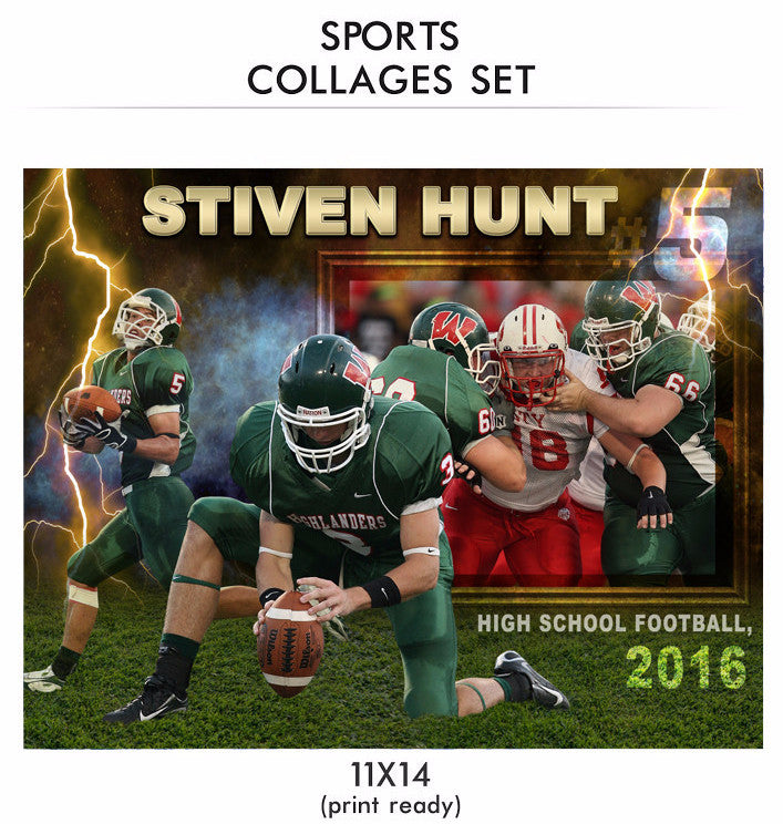 hunt sports collage photoshop template