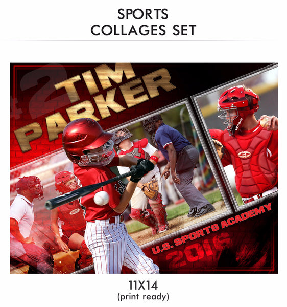 Parker Sports Collage Photoshop Template
