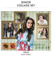 Jessica- Senior Collage Photoshop Template - Photography Photoshop Templates