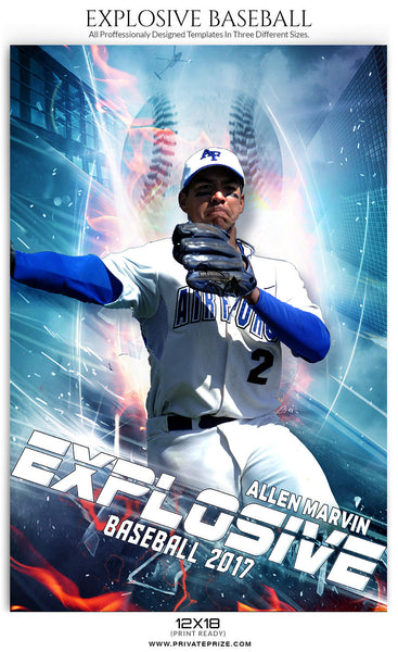 Explosive Themed Sports Template - Photography Photoshop Templates