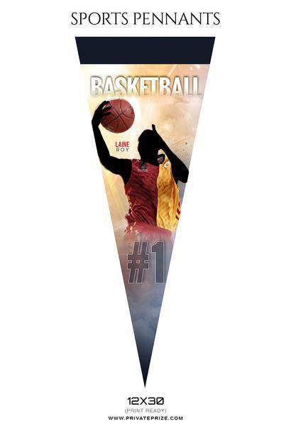 Sports Basketball Pennants Photography Templates