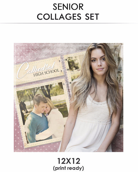 Alise -Senior Collage Photoshop Template - Photography Photoshop Templates