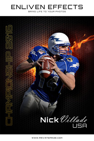 Sports Football Photography- Enliven Effects - Photography Photoshop Templates