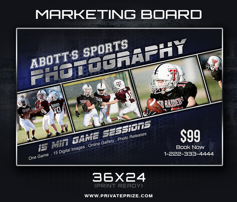 Marketing Photography Board - Photography Photoshop Templates