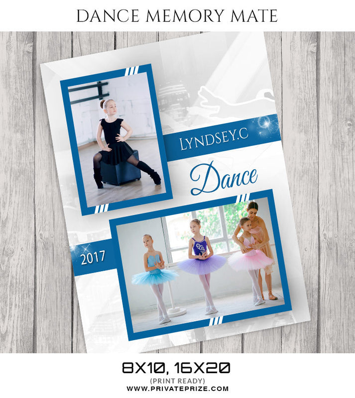 Power of Team- Dance Memory Mate - Photography Photoshop Template