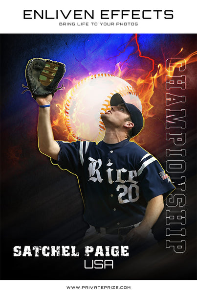 Sports Baseball Photography - Enliven Effects - Photography Photoshop Templates