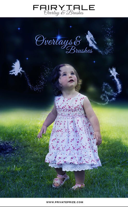 Fairy Brushes and Digital Overlays - Photography Photoshop Template
