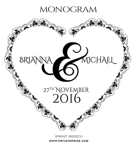 Brianna & Michael Love Monogram - Photography Photoshop Templates