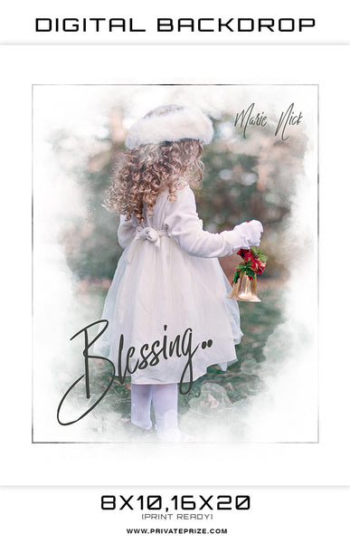 Blessings Digital Background Template - Photography Photoshop Templates