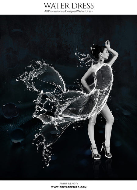 Water-Dress-Coral - Photography Photoshop Templates