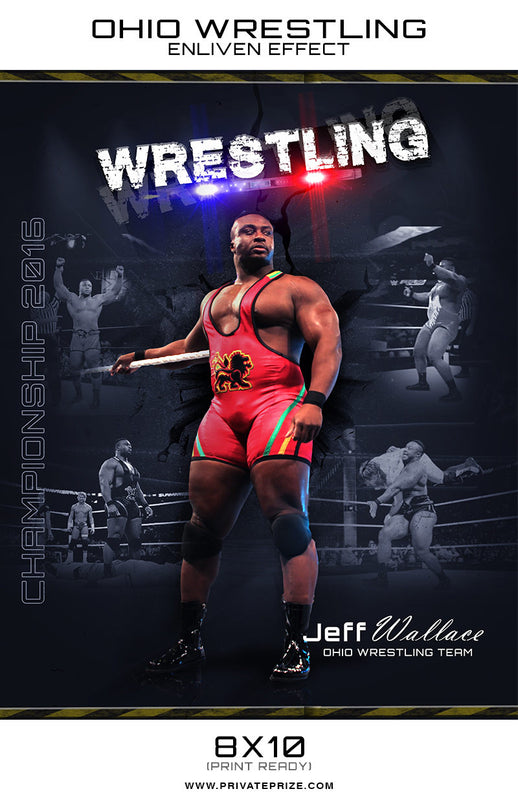 Jeff Ohio Wrestling - Enliven Effects - Photography Photoshop Template
