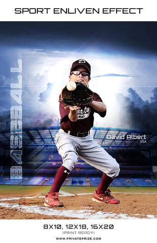 David Albert Baseball High School Sports - Enliven Effects - Photography Photoshop Templates