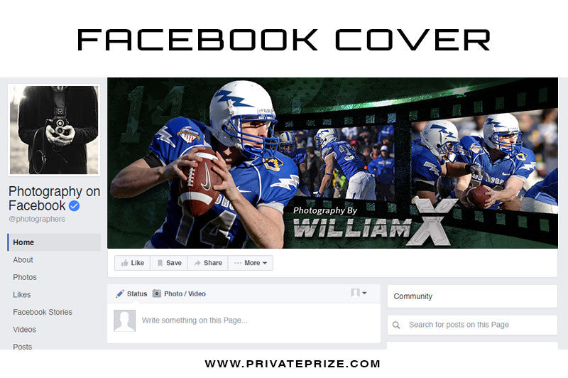 Facebook Timeline Cover WilliamX - Photography Photoshop Templates