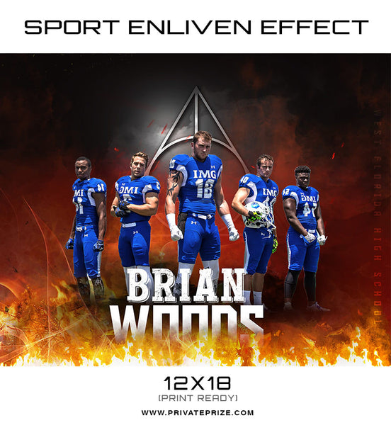 Brian Woods  Themed Sports Template - Photography Photoshop Templates