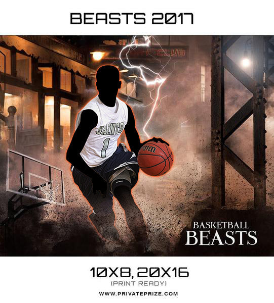 Basketball Beasts 2017 Sports Template -  Enliven Effects