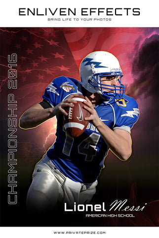 Sports Football Photgraphy - Enliven Effects - Photography Photoshop Templates