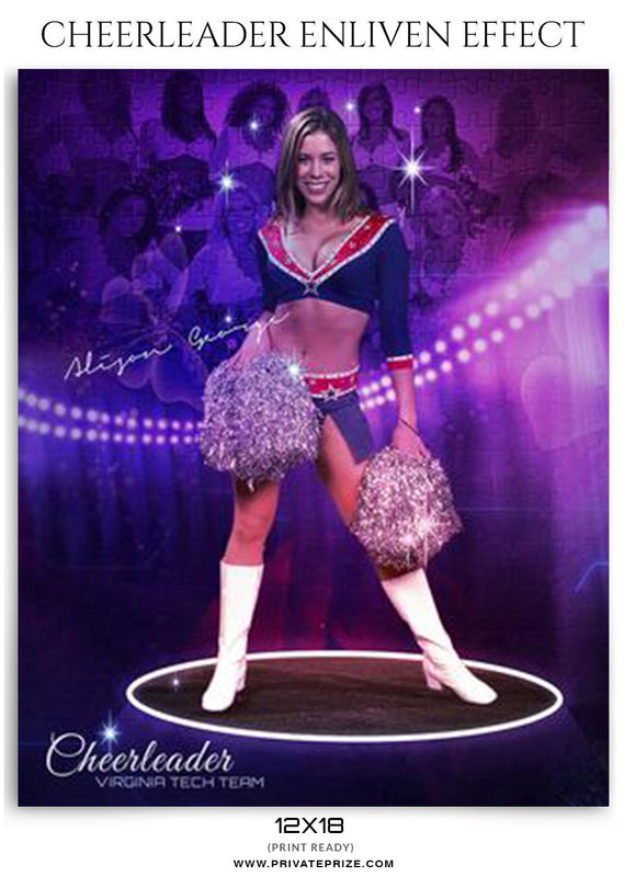 Virginia Cheerleader - Enliven Effects Photoshop Template - Photography Photoshop Template